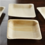 "25 Pack - Eco-friendly Birchwood 5.6"" x 5.6"" Square Plates"