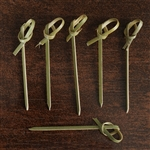 "100 Pack - 2.75"" Appealing Knotted Bamboo Picks"