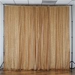 20ft x 10ft Grand Duchess Sequin Backdrop - Gold