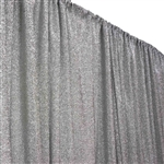 20ftx10ft Metallic Spandex Backdrops - Silver