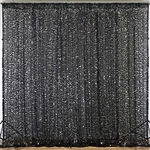 20ft Big Payette Sequin Curtain Panel Backdrop - Black