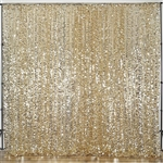 20ft Big Payette Sequin Curtain Panel Backdrop - Champagne