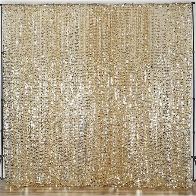 Purchase Sequin Curtain Panel Backdrop In Champagne Online