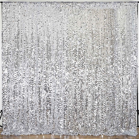 20ft Big Payette Sequin Curtain Panel Backdrop - Silver