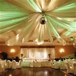 "8 Panel 24"" Hoop Ceiling Draping Hardware Kit For Party Banquet Event - Free Tool Kit"