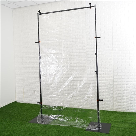 5FT x 9FT Clear Portable Isolation Wall Kit, Floor Standing Sneeze Guard