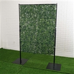 4FT x 9FT Portable Isolation Wall with Artificial Grass Wall Panels, Floor Standing Sneeze Guard