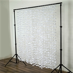 Flower Garland Backdrop - White - 6ftx6ft