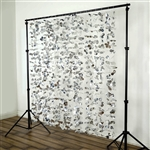 Dazzling Metallic Foil Flower Wedding Backdrop- Silver- 6ftx6ft