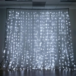 20FT x 10FT 600 Sequential White LED Lights Party Photography Organza Curtain Backdrop