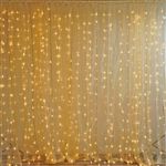 20FT x 10FT 600 Sequential Gold LED Lights Party Photography Organza Curtain Backdrop
