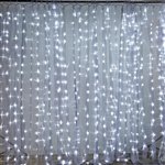 20FT x 10FT 600 Sequential Silver LED Lights Party Photography Organza Curtain Backdrop