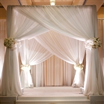 4 Post Height Adjustable Canopy Chuppah Mandap Wedding Photo Exhibition Booth