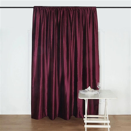 8Ft H x 8Ft W Econoline Velvet Backdrop Curtain Panel Drape - Purple