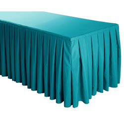 Box Pleat Polyester Table Skirts - 6/8 Foot Table - 9.5 foot section