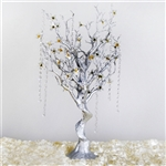 "VOGUE 30"" Tall Manzanita Tree with Flower Tipped Branches - Metallic Silver"