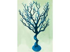 "Shop Premium Vogue 30"" Tall Glittered Manzanita Tree – Turquoise 