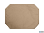 "Burlap Placemat 13""x18"" Rectangular Tray (Angled Corners) – Natural – 1 Dozen"