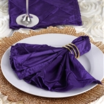 5/pk Napkins (Pintuck) - Purple