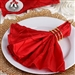 5/pk Napkins (Pintuck) - Red