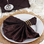 5/pk Napkins (Pintuck) - Chocolate