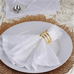 5/pk Napkins (Pintuck) - White