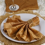 5/pk Napkins (Pintuck) - Gold