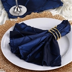 5/pk Napkins (Pintuck) - Navy Blue
