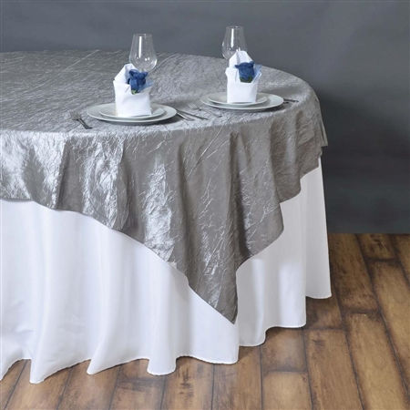 "90"" Overlay (Crinkle) - Silver"