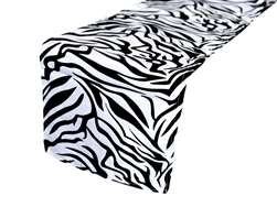 Table Runner (Zebra) - Black