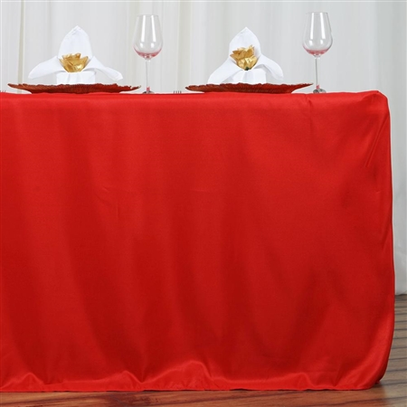Econoline 6 foot Fitted Tablecloths - Red