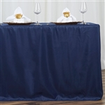 Econoline 6 foot Fitted Tablecloths - Navy Blue