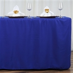 Econoline 6 foot Fitted Tablecloths - Royal Blue