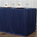 Econoline 8 foot Fitted Tablecloths - Navy Blue