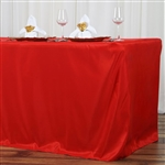 Econoline 8 foot Fitted Tablecloths - Red