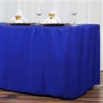 Econoline 8 foot Fitted Tablecloths - Royal Blue
