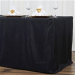 Econoline 8 foot Fitted Tablecloths - Black