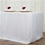 Econoline 8 foot Fitted Tablecloths - Ivory