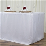 Econoline 8 foot Fitted Tablecloths - White