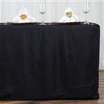 Econoline 6 foot Fitted Tablecloths - Black