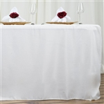 Econoline 6 foot Fitted Tablecloths - White