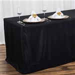 Econoline 4 foot Fitted Tablecloths - Black