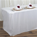 Econoline 4 foot Fitted Tablecloths - Ivory