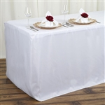 Econoline 4 foot Fitted Tablecloths - White