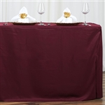 Econoline 6 foot Fitted Tablecloths - Burgundy