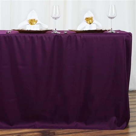 Econoline 6 foot Fitted Tablecloths - Eggplant