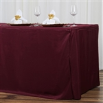 Econoline 8 foot Fitted Tablecloths - Burgundy