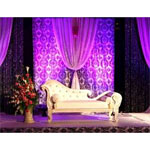 20ft x 10ft Damask Flocking Backdrops - Black/White