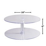"2 Tier 18"" Round Acrylic Cup Cake Dessert Stand"