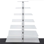 7 Tier Heavy Duty Acrylic Crystal Glass Cupcake Dessert Decorating Stand - Square